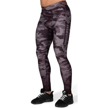 Textiel Leggings Gorilla Wear Franklin Mens Tights Black/Gray Camo Zwart