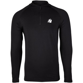 Textiel T-shirts met lange mouwen Gorilla Wear Hamilton Hybrid Long Sleeve Black Zwart