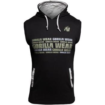 Textiel Mouwloze tops Gorilla Wear Melbourne S/L Hooded T-shirt Black Zwart