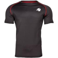 Textiel T-shirts korte mouwen Gorilla Wear Performance T-shirt Black/Red Zwart