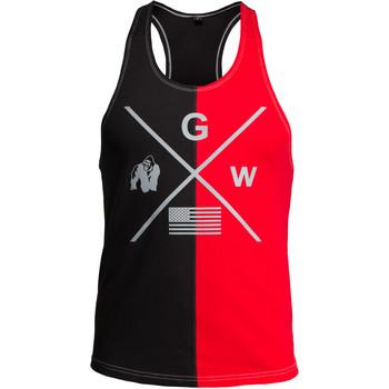 Textiel Heren Mouwloze tops Gorilla Wear Sterling Stringer Tank Top Black/Red Zwart
