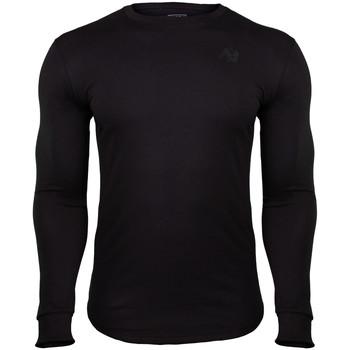 Textiel Heren T-shirts met lange mouwen Gorilla Wear Williams Long Sleeve Black Zwart