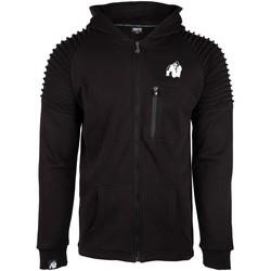 Textiel Heren Sweaters / Sweatshirts Gorilla Wear Delta Hoodie Black Zwart