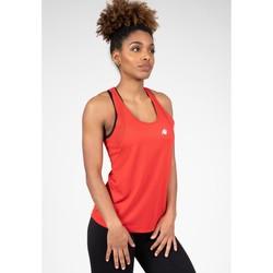 Textiel Dames Mouwloze tops Gorilla Wear Seattle Tank Top Red Rood