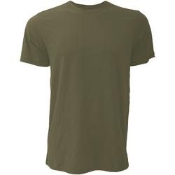 Textiel Heren T-shirts korte mouwen Bella + Canvas CA3001 Military Groen