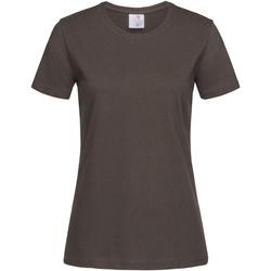 Textiel Dames T-shirts korte mouwen Stedman  Bruin