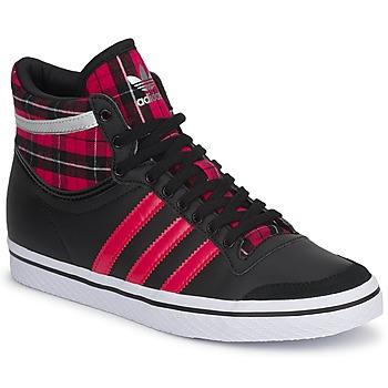 Schoenen Dames Hoge sneakers adidas Originals TOP TEN VULC W Zwart / Roze / S13 - metaal / Zilver
