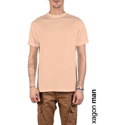 Textiel Heren T-shirts korte mouwen Xagon Man  Roze