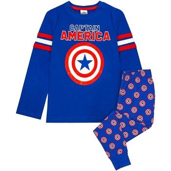 Textiel Jongens Pyjama's / nachthemden Captain America  Blauw