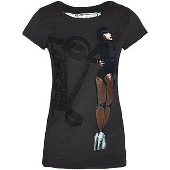 Textiel Dames T-shirts korte mouwen Amplified  Houtskool