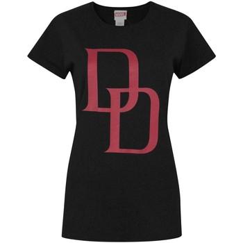 Textiel Dames T-shirts korte mouwen Daredevil  Zwart/Rood