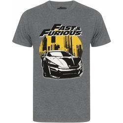 Textiel Heren T-shirts korte mouwen Fast & Furious  Houtskool mergel