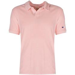 Textiel Heren Polo's korte mouwen Champion  Roze