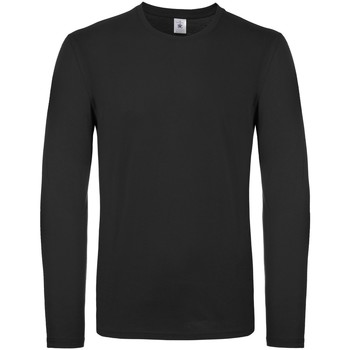 Textiel Heren T-shirts met lange mouwen B And C TU05T Zwart