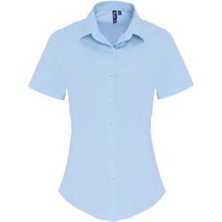 Textiel Dames Overhemden Premier PR346 Lichtblauw