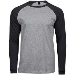 Textiel Heren T-shirts met lange mouwen Tee Jays T5072 Heide Grijs/Zwart