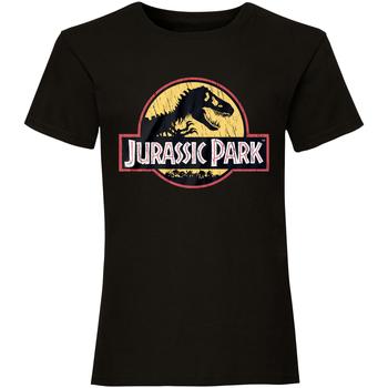 Textiel T-shirts korte mouwen Jurassic Park  Zwart