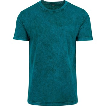 Textiel Heren T-shirts korte mouwen Build Your Brand BY070 Wintertaling/Zwart