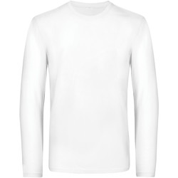Textiel Heren T-shirts met lange mouwen B And C TU07T Wit