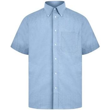 Textiel Heren Overhemden korte mouwen Absolute Apparel  Blauw