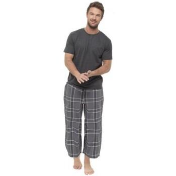 Textiel Heren Pyjama's / nachthemden Foxbury  Grijze Schaak