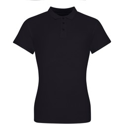 Textiel Dames Polo's korte mouwen Awdis JP10F Diep zwart