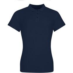Textiel Dames Polo's korte mouwen Awdis JP10F Marine Oxford