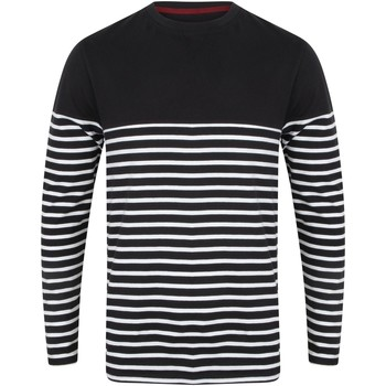 Textiel Heren T-shirts met lange mouwen Front Row FR134 Marine / Wit