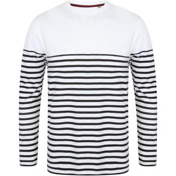 Textiel Heren T-shirts met lange mouwen Front Row FR134 Wit/Zwaar