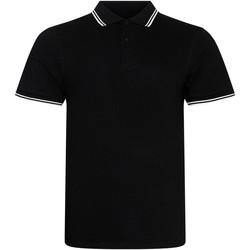 Textiel Heren Polo's korte mouwen Awdis JP003 Zwart/Wit