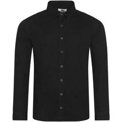 Textiel Heren Overhemden lange mouwen Awdis SD040 Zwart