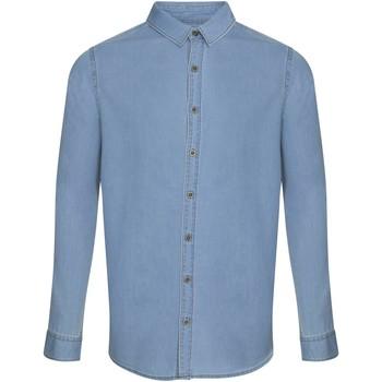 Textiel Heren Overhemden lange mouwen Awdis SD040 Lichtblauw