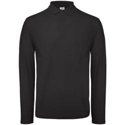 Textiel Heren Polo's lange mouwen B And C BA290 Zwart