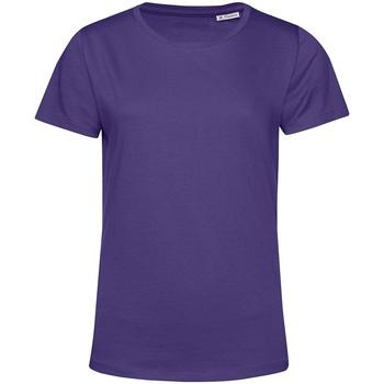 Textiel Dames T-shirts korte mouwen B&c TW02B Stralend paars