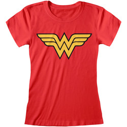 Textiel Dames T-shirts korte mouwen Dc Comics  Rood