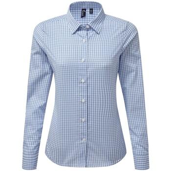 Textiel Dames Overhemden Premier PR352 Lichtblauw/Wit