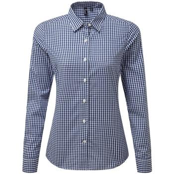Textiel Dames Overhemden Premier PR352 Marine / Wit