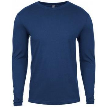 Textiel Heren T-shirts met lange mouwen Next Level NX3601 Koel Blauw