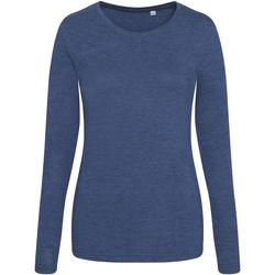 Textiel Dames T-shirts met lange mouwen Awdis JT02F Heide-Marine