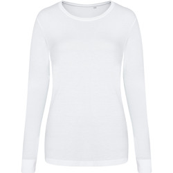 Textiel Dames T-shirts met lange mouwen Awdis JT02F Massief Wit