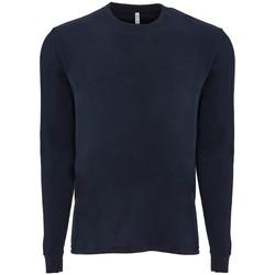 Textiel T-shirts met lange mouwen Next Level NX6411 Middernacht marine