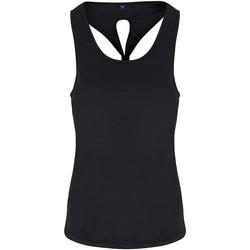 Textiel Dames Mouwloze tops Tridri TR042 Zwart