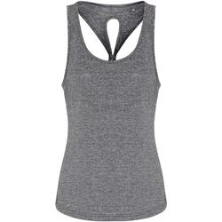 Textiel Dames Mouwloze tops Tridri TR042 Zwart gemêleerd