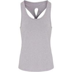 Textiel Dames Mouwloze tops Tridri TR042 Zilverkleurige Melange