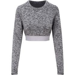 Textiel Dames T-shirts met lange mouwen Awdis JC039 Grijze Melange