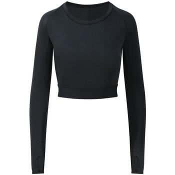 Textiel Dames T-shirts met lange mouwen Awdis JC039 Jet Zwart