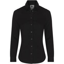 Textiel Dames Overhemden Awdis SD045 Zwart