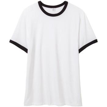 Textiel Heren T-shirts korte mouwen Alternative Apparel AT013 Wit/zwart