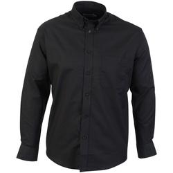Textiel Heren Overhemden lange mouwen Absolute Apparel  Zwart