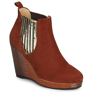 Schoenen Dames Low boots MySuelly LEON Roest / Goud